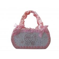 Fiocco Nascita FuoriPorta Confetto Rosa Creato artigianalmente a mano